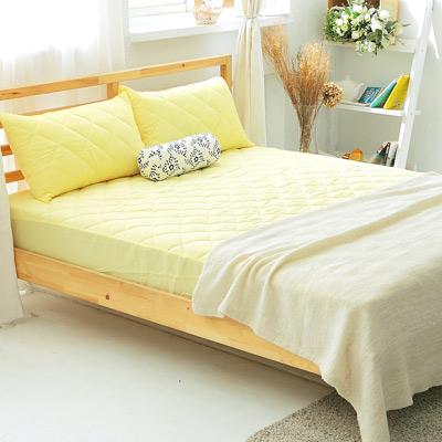 美夢元素 繽紛馬卡龍保潔床墊-加大〈檸檬黃〉