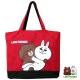 LINE FRIENDS  熊大帆布托特袋(紅)LI5449 product thumbnail 1