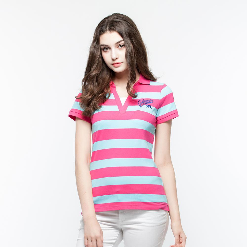 Hang Ten - 女裝 - 假兩件POLO衫 - 紫