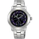 SEIKO Criteria星光魔法全日曆腕錶(SPA801P1)-銀/紫時標/33mm