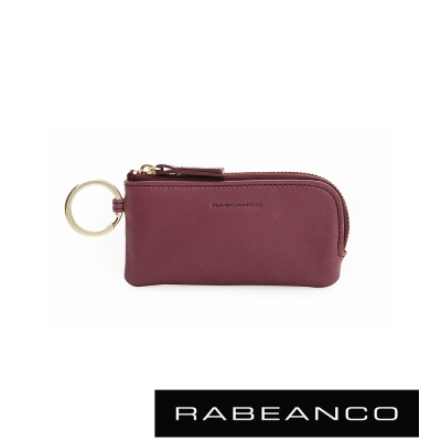 RABEANCO頂級牛皮零錢包-紫紅