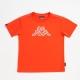 KAPPA義大利小朋友吸濕排汗速乾彩色圓領衫~磚橘色 product thumbnail 1