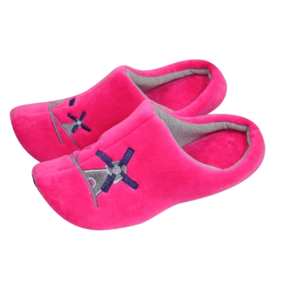 Yvonne Collection荷蘭風車拖鞋-桃紅L