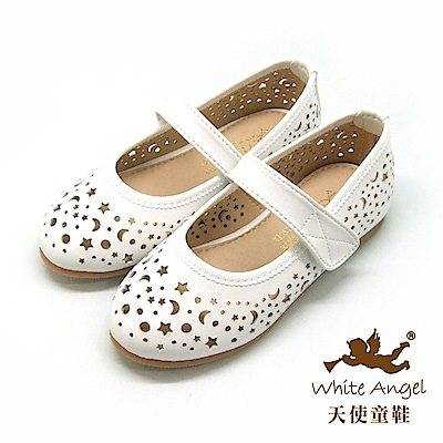天使童鞋-星光洞洞公主鞋 JU83-白