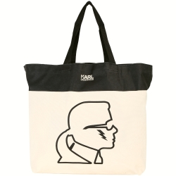 Karl Lagerfeld 老佛爺側臉肖像帆布包