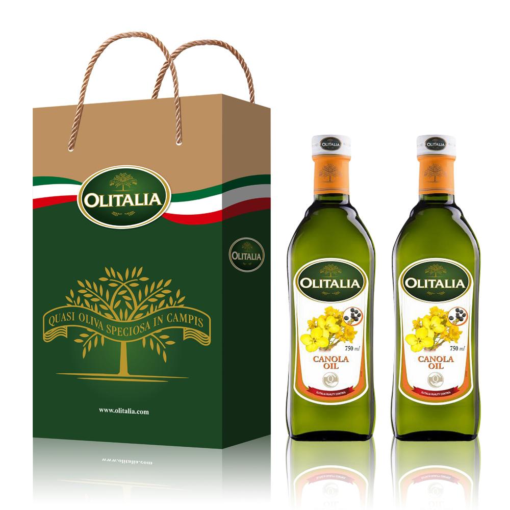 Olitalia奧利塔 頂級芥花油禮盒組(750mlx2瓶)