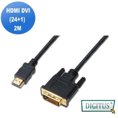曜兆DIGITUS HDMI轉DVI-D (24+1)互轉線-2公尺(公-公)