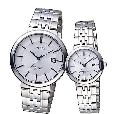 ALBA 雅柏 低調簡約時尚對錶(AS9D83X1+AH7N53X1)