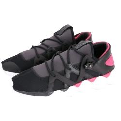 Y-3 KJUJO LOW 抽繩綁帶設計運動鞋(黑x粉)