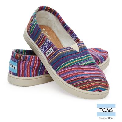 TOMS 彩色條紋懶人鞋-孩童款