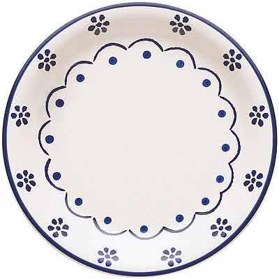 EXCELSA 陶製淺餐盤(花繪19cm)