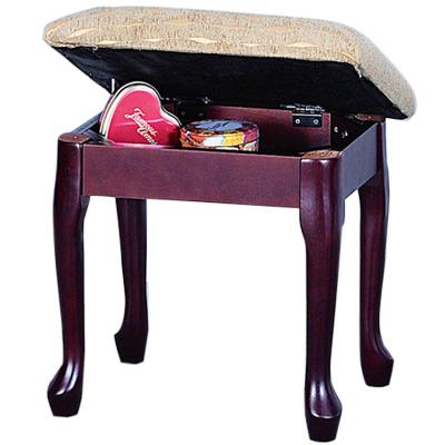 英式古典-維多利雅掀蓋化妝椅-咖啡色