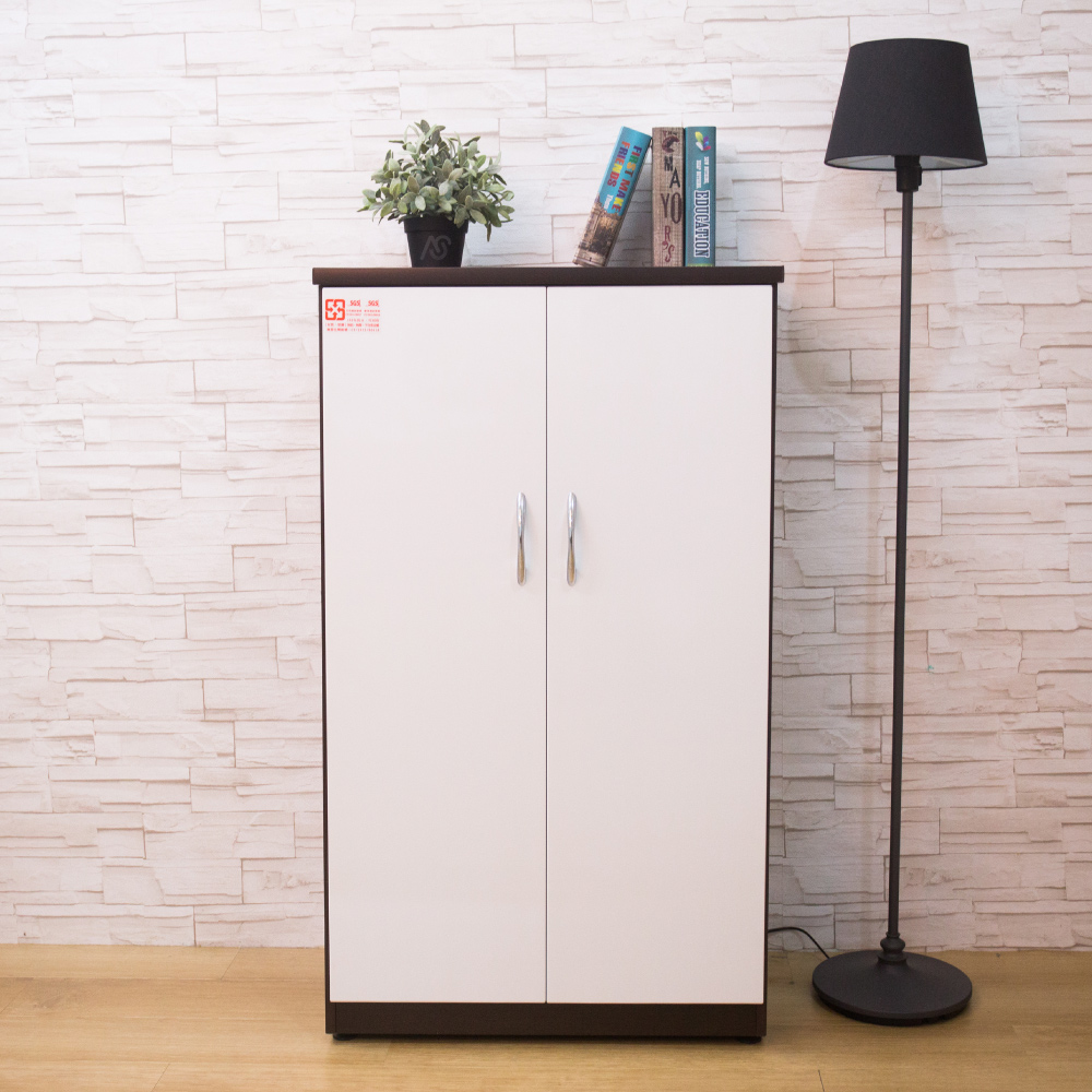 AS-卡蘿塑鋼胡白色雙門鞋櫃-65x37x112cm