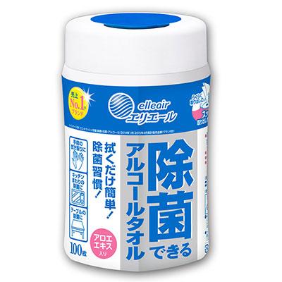 日本大王elleair 抗菌濕紙巾(100抽/罐)
