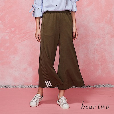 beartwo 率性運動風寬褲(二色)