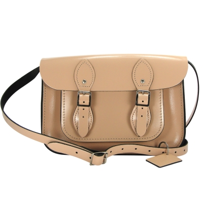 The Leather Satchel 英國手工牛皮劍橋包 肩背 側背包 時尚裸 11吋