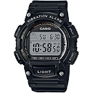 CASIO 人氣商品運動休閒腕錶(W-736H-1A)-黑/47mm