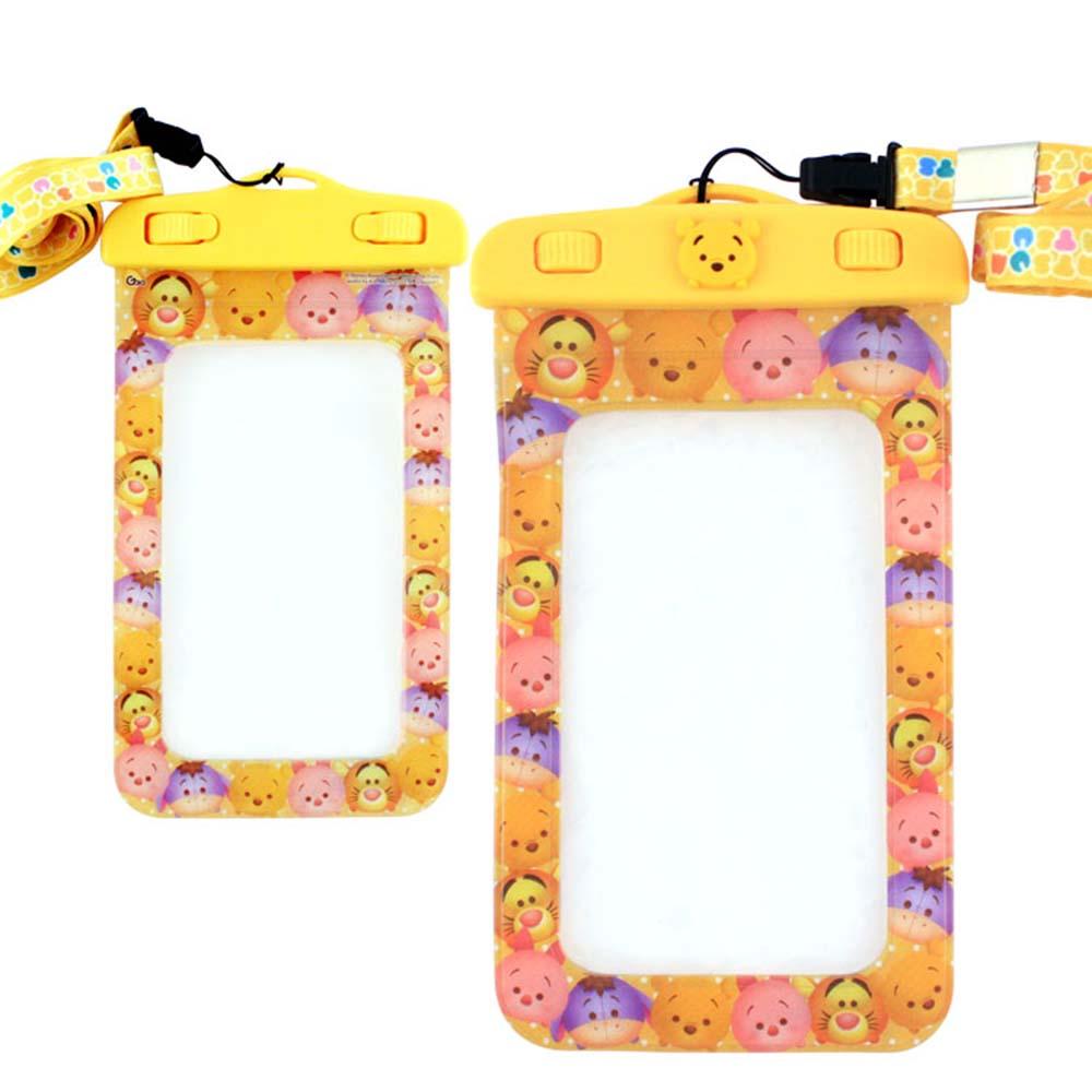 Disney迪士尼TSUM TSUM 5吋通用可愛繽紛手機防水袋-維尼好朋友