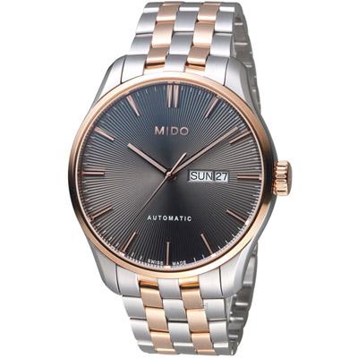 MIDO美度錶 BELLUNA II系列時尚紳士腕錶-灰色/42mm