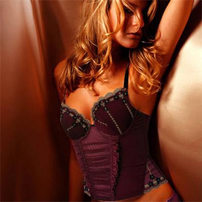 【La Felino】愛戀凡爾賽宮廷3/4罩B-E罩杯馬甲 (紅紫)