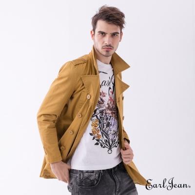 Earl Jean 長版風衣外套-黃色-男