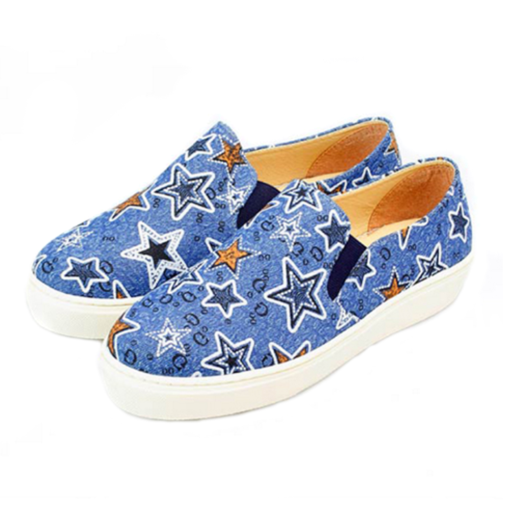 FUFA MIT 星空俏皮懶人鞋 (FE53)-深藍色