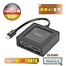 曜兆DIGITUS miniDP轉DP 一入二出螢幕顯示器DS-45406