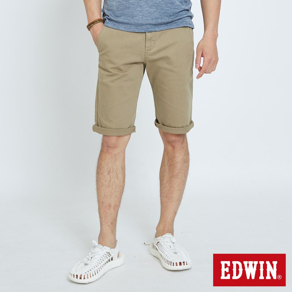 EDWIN 基本鈄袋休閒短褲-男-褐色