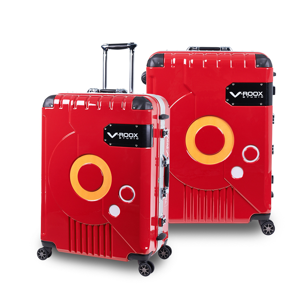 V-ROOX ZERO  25吋 紅(銀框)   時尚潮版 撞色太空艙 鋁框行李箱