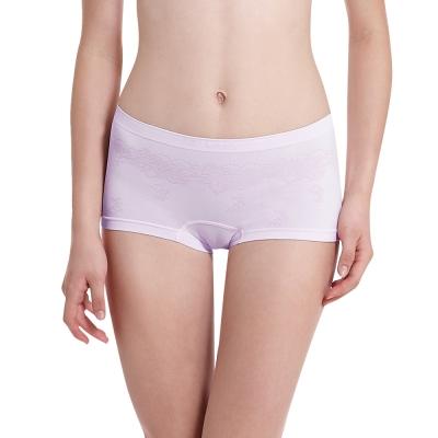LADY 超彈力親膚無痕系列 中腰平口內褲 (紫色)