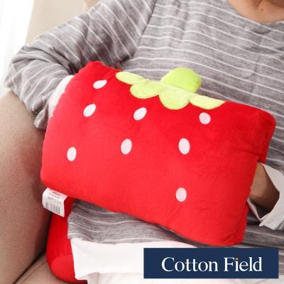 棉花田 小草莓 可愛造型多功能暖手抱枕