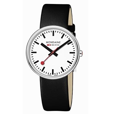 MONDAINE 瑞士國鐵 MINI GIANT小巨人腕錶-黑/35mm