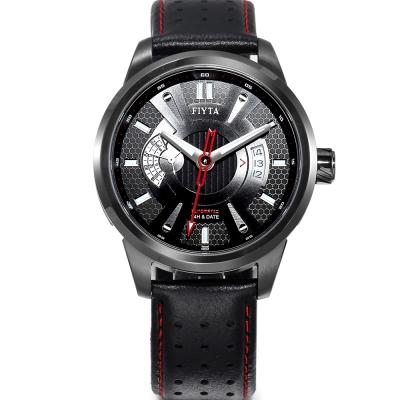 FIYTA 飛亞達 極限系列超跑款自動機械皮帶男錶-黑/42mm