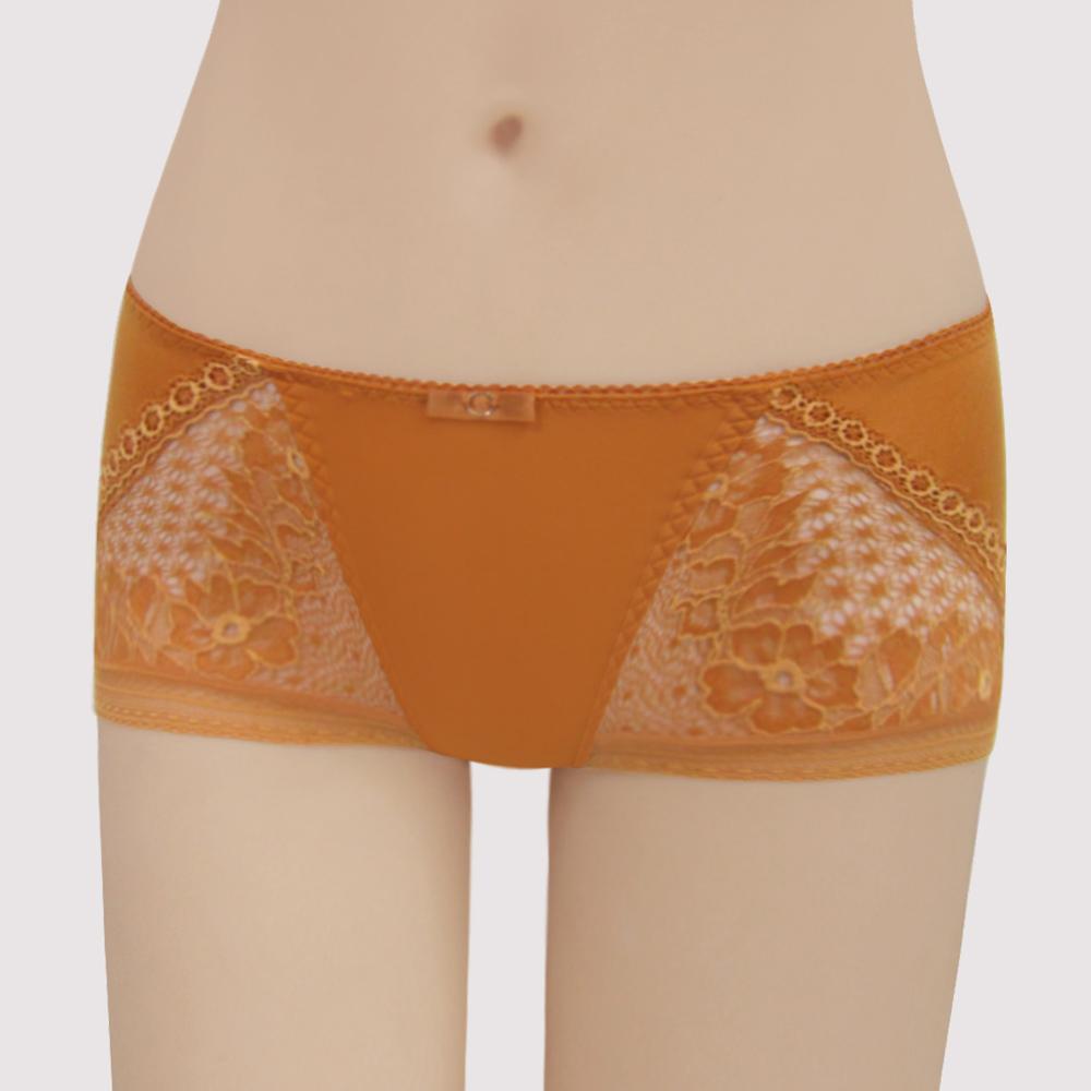 曼黛瑪璉 包覆提托V極線  低腰平口無痕內褲(炫彩橘)