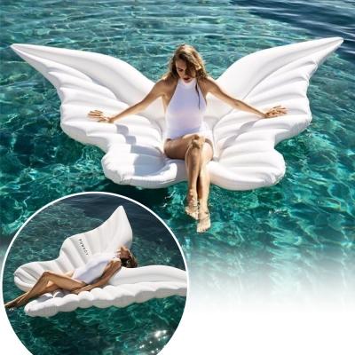 天使之翼/翅膀造型游泳圈 水上充氣浮床 充氣浮排