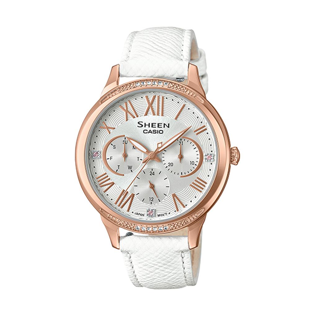 SHEEN 耀眼風采時尚腕錶(SHE-3058LTD-7A)白/36mm