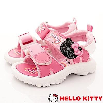 HelloKitty童鞋 巧克力餅乾涼鞋款 EI 18109 桃(中小童段)