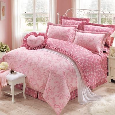 鴻宇HongYew 美國PIMA棉 400織-約瑟芬 雙人七件式兩用被床罩組