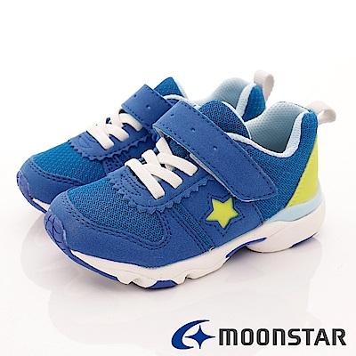 日本月星頂級童鞋 1E包覆機能鞋款 TW1965藍(小童段)