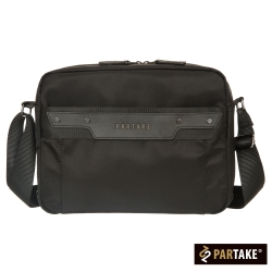 PARTAKE-B7系列-橫式側背包(大)-黑-PT16-B7-61BK