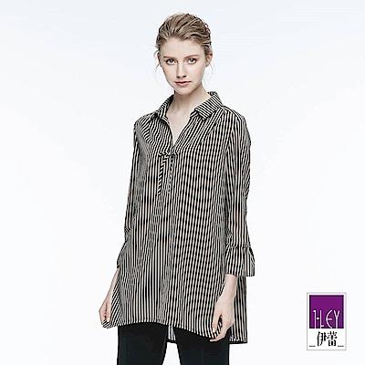 ILEY伊蕾 優雅繫結裝飾條紋上衣魅力價商品(可)