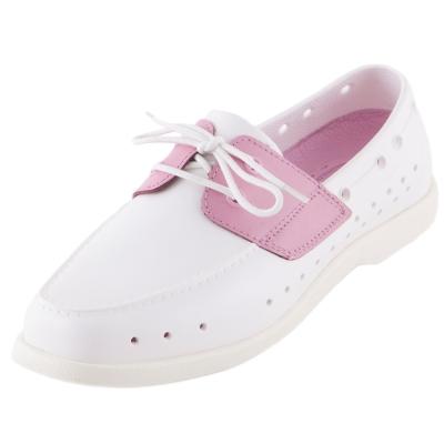 (男/女)Ponic&Co美國加州環保防水洞洞綁帶帆船鞋-白色