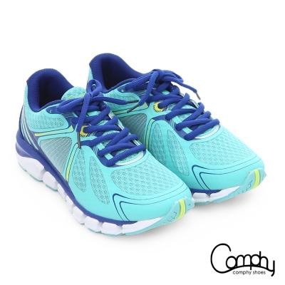 Comphy 厚切超氣囊 輕量彈力綁帶奈米健走運動鞋 藍色