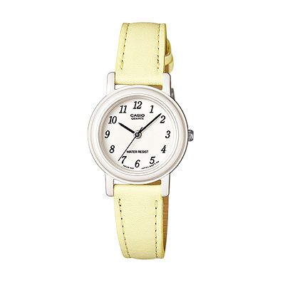 CASIO 馬卡龍甜心魅力皮帶腕錶(LQ-139L-9B)-粉嫩黃/26mm