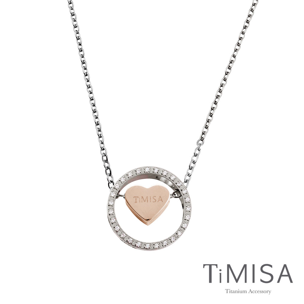TiMISA《幸運心指輪》純鈦項鍊(C)-雙色可選