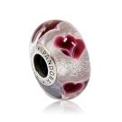 Pandora 潘朵拉 浪漫之心氣泡琉璃珠 純銀墜飾 串珠