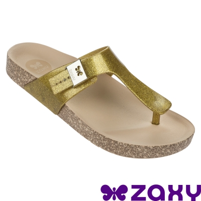 Zaxy 巴西-女  FASHIONFLAT THONG FEM 夾腳拖鞋 (金)