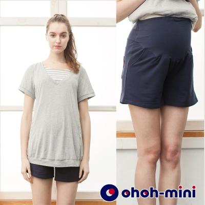 ohoh-mini 歐歐咪妮 棉質孕婦短褲
