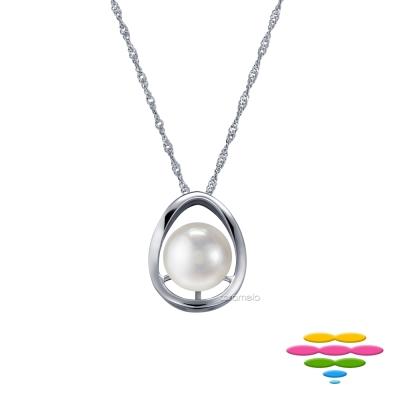 彩糖鑽工坊 9-10mm 淡水珍珠項鍊 簡愛系列