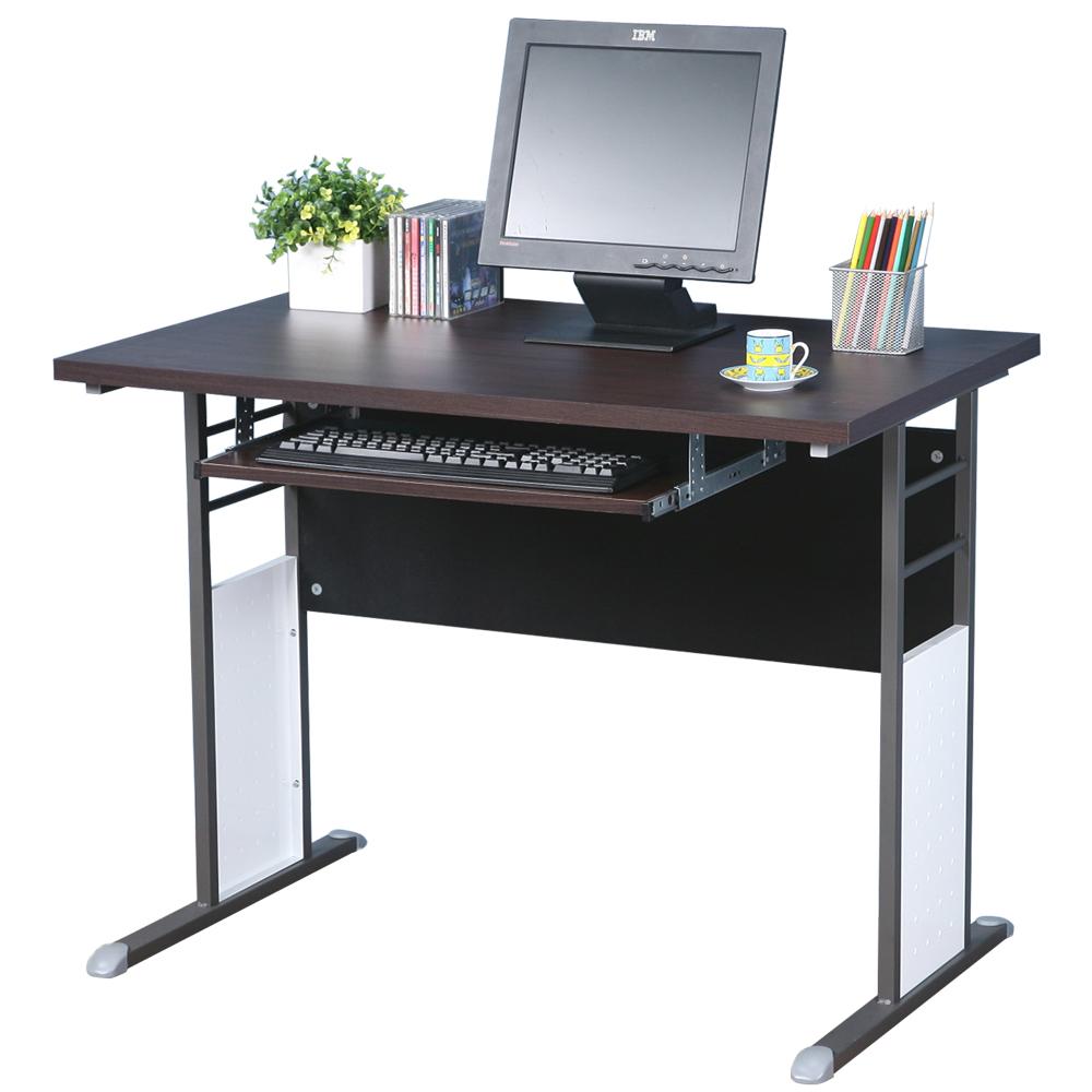 Homelike 巧思辦公桌 炫灰系列-胡桃加厚桌面100cm(附鍵盤)